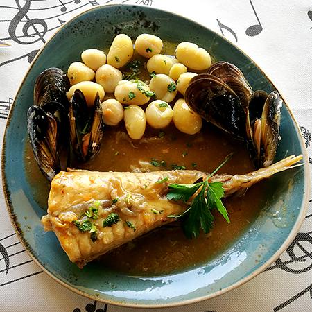Menú del día pescado